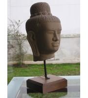 Stone head Buddha